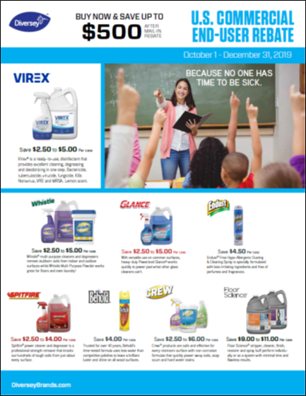 Diversey Q4 2019 Commercial End User Rebate - Building Care Products