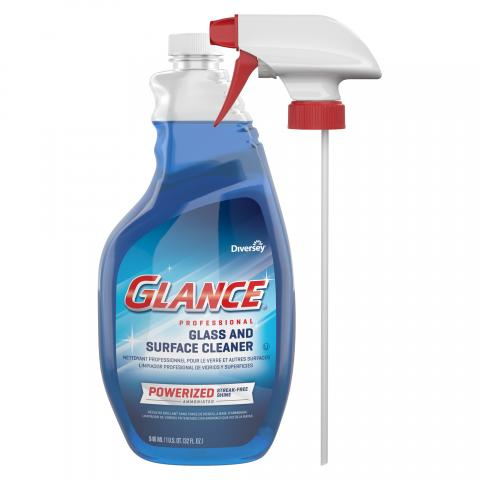 Glance Powerized Glass & Surface Cleaner 32 oz. capped spray trigger CBD540304 Front