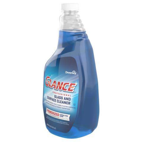 Glance Powerized Glass & Surface Cleaner 32 oz. capped spray trigger CBD540304 Right