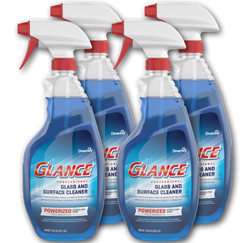 Glance Powerized Glass & Surface Cleaner 32 oz. capped spray trigger CBD540298 Multi
